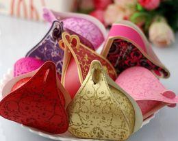 Wholesale 50pcs color love box Wedding Bridal Favors Candy Party Boxes Favor