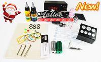 Wholesale Beginner Cheap Tattoo Starter Kits Tattoo Machine Gun Power Supply Needles Inks BT TK901