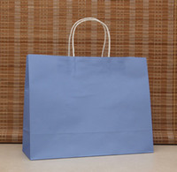 Wholesale 5 Colors CM Fashion Hand Length Handle Paper Bag kraft paper bag Festival gift package
