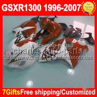 fair white - 7gifts Tank Fits SUZUKI GSXR1300 GSX R1300 GSX R1300 Orange white CL1372 GSXR hot Fair