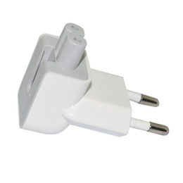 Wholesale AC Power Adapter Plug Two Round Pin For Apple MacBook iBook White EU Plug
