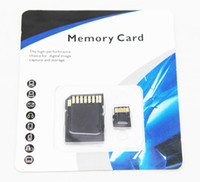 Wholesale real gb g class tf card memory card micro sd card with adapter retail packaging drop
