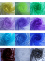 Backdrops beautiful stair - Beautiful Multi Color Wedding Decoration Tulle Chair Flower yarn background gauze curtain stair armrest wedding celebration supplies