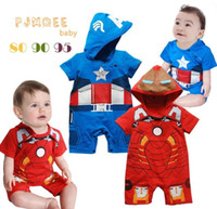 Cheap 2013 Boys One-Piece & Romper Iron Man and Superman Jumpsuits 3 Sizes 2 Color 9Mth-24Mth Bodysuits Baby Jumper Outwear