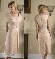 Jewel Neckline belted gold coat - custom made lace Sheath knee length satin belt long coat jacket bolero mother of the bride dress