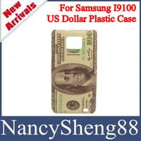 paper money - 1PC Hot Selling Retro Money Paper Design USD Dollar Hard Plastic Skin Case for Samsung Galaxy S2 SII I9100 SS