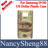 Wholesale 1PC Super deal Retro Money Paper Design USD Dollar Hard Plastic Skin Case for Samsung Galaxy S2 SII I9100 SS