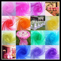 Wholesale Happy Married Wedding yarn decoration Chair Flower snow crystal yarn background gauze curtain stair armrest wedding celebration supplies