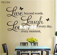 FQ1136A b quotes - B Vinyl Decal quot Live every moment Laugh every day Love beyond words quot Wall Quote