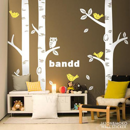 Birch Tree Wall Decal - Project Nursery Featured - Baby Nursery for home mural wallpaper 250*250CM Free shipping discount Wall Decal Trees Nature