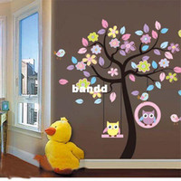 Wholesale Animal Owl Flower Floral Tree Wall Sticker Decor Decal Mural Children Nursery