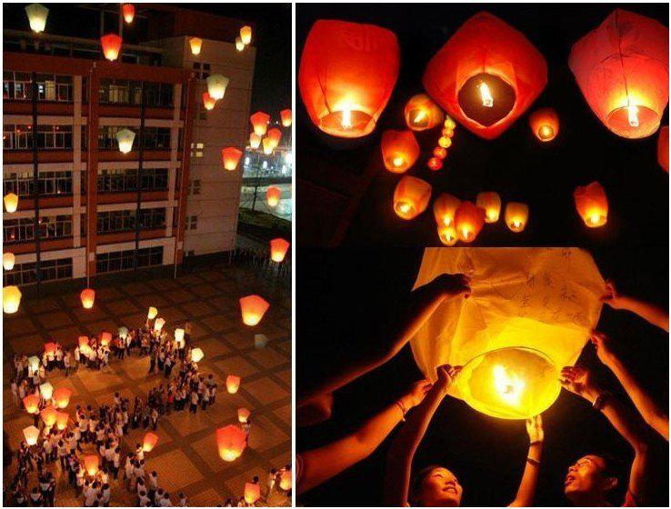 how to make a fire balloon lantern