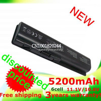 Wholesale 5200mAh laptop battery for hp DV4 DV5 DV6 CQ30 CQ40 CQ45 CQ50 CQ60 CQ61 CQ71 G50 G60 G70 HSTNN W49C