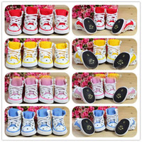 Fall/Winter shoes for dogs - cute pet clothes dog PU Sports shoes in colors Printing grid Board Shoes for dog
