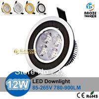 Wholesale X200pcs Retail High power Led ceiling down light W lm led lamp V Led bulb Lamps Spotlight downlight lighting