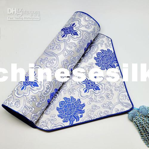 Decorative extra long 120 inch table runner vintage damask for 120 inches table runner