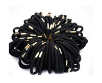 Wholesale 5mm Elastic Ponytail Holders Hair accessories stretch Hair ties