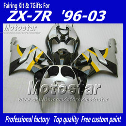 Yellow silver fairing kit FOR KAWASAKI Ninja ZX7R ZX 7R 1996 - 2003 zx-7 fairings kits 96 97 98 99 00 01 02 03