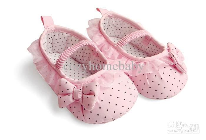2017 Infant Toddler Baby Polka Dot Pink Girl Pre Walker Shoes Size ...