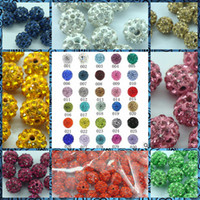 crystal ball wholesale - Mix Colors mm Shamballa Clay Crystal Rhinestone Pave Round Disco Ball Beads