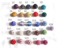 Wholesale 50pcs hot mm Disco Ball Pave CZ Crystal beads Crystals fit for Shamballa Bracelet
