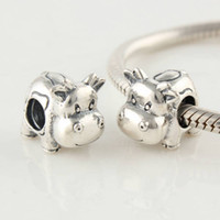 Glass Animals Silver 925 Sterling Silver Screw Core Animals Cow Charm Bead Fits European Pandora Jewelry Bracelets Necklaces & Pendants