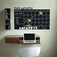 Bricolage calendrier mensuel tableau mural de vinyle Decal amovible Planner murale papier peint vinyle Stickers muraux 64 * 100cm Livraison gratuite
