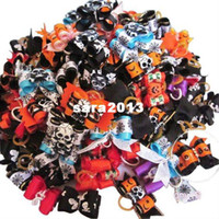 Pet Accessories dog grooming bows - Halloween Handmade Dog Accessories Halloween Value Pack Dog Bows Dog Grooming Bow