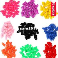 Revisiones Super glue-Caps uñas suaves 20PCS Grooming Para la pata del perro Con Gratis Super pegamento adhesivo Pet 6719