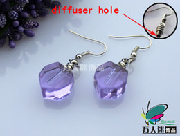 Wholesale Perfume Earrings Small Heart Sold in Per Pairs With Diffuser Hole name on rice glass vials pendants