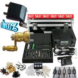 Wholesale Tattoo Kits Rotary Tattoo Machine Guns Dual Power Needle Grip Tip Case BT TK902