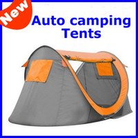 Wholesale 2013 New Waterproof Oxford Camping Tents Double Camping Tents Auto Open Outdoor Tents Two door Lovers Travel Tents Sleep Tents SP31B