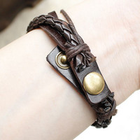 Wholesale 2013 New style Cow Leather ladies vintage dove pendant leather weave watch for women