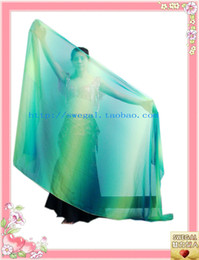 Wholesale SWEGAL sale belly dancing silk veil fan dance stage costume silk veil fan SGBDD0216