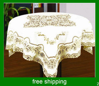 Round lace tablecloth - Round table cloth polyester table cloth fine tablecloths