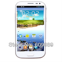 5.0 Android 1G Free SG shipping White Feiteng H9500 MTK6589 S4 Quad core Android 4.2 MTK6589 5.0 Inch HD IPS Screen 5.0MP Front Camera- White