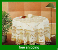 Wholesale Round table cloth polyester table cloth fine tablecloths
