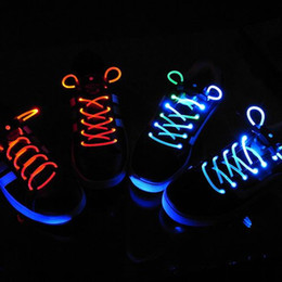 LED piscando sapato Lace Fiber óptica sapato Luminous calçados Laces Light Up Flash Incandescentes rendas 200pcs / lot (100pairs)