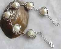 Pearl baroque bracelet - Natural South Sea Baroque Pearl Bracelet inch grotesque