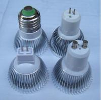 Wholesale High power CREE Led Lamp W x3W Dimmable GU10 MR16 E27 E14 GU5 B22 Led Light Spotlight led bulb lighting downlight lamps NIMILED