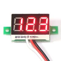 Wholesale 5 Ultra Small quot Volts Measure Meters DC V Red LED Digital Voltmeter for Car Motorcycle and DIY ect