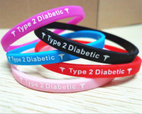 Wholesale Type Diabetes Insulin Dependent medical silcone wristband bracelet