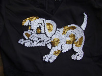 Wholesale x Embroidered Sequins dog Sew On Patch DIY accessory Applique Badge