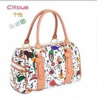 Wholesale Fashion Lady Women PU Leather Shoulder Bag Tote Hobo Purse Circus Handbag