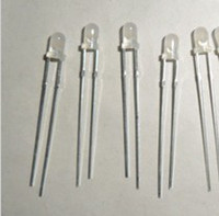 3mm led - mm diffused led red green color biocolor led non polarity