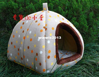 Wholesale luxury brand portable pet product supplies dog cat house kennel cage puppy warm bed home high quality tent