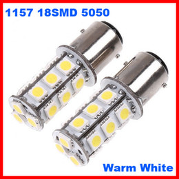 double t5 Promotion 120pcs 1157 P21 BA15D 18SMD 5050 18-LED Suspension du frein stop Ampoules Lampe Xenon Blanc pur / blanc chaud peut mélanger Super Bright 12V double contact