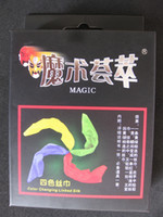 Wholesale Color Changing Linked Silk Trick color Scarf Magic Props for Learner Magician Charming Party Magic Set Scrarf