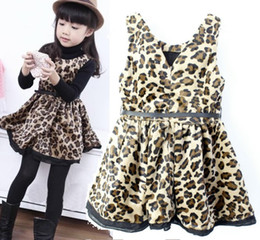 JACADI 2013 leopard girls one-piece dress sleeveless dresses girls blouses children's dresses jumper skirts dress shirts vest tops LF17