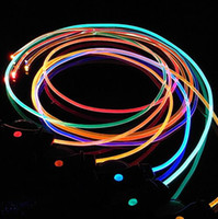 Wholesale LED Flashing Shoelace Light up Shoe Laces Laser Shoelaces Fashionable Jump Change with Retail Package Multi Colors